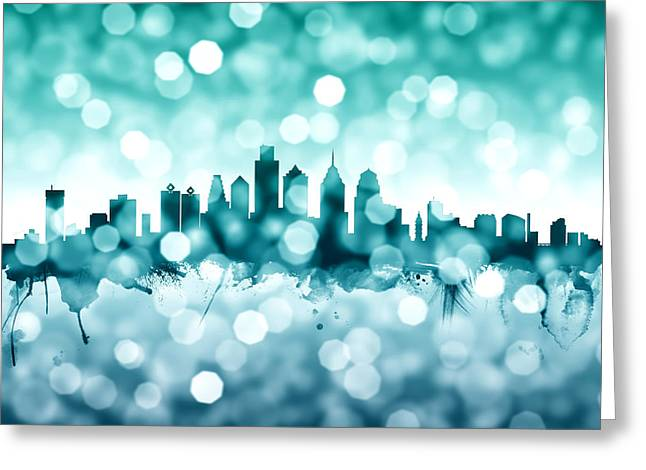 Philadelphia Pennsylvania Skyline Greeting Card
