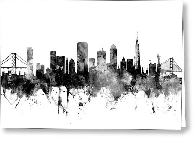 San Francisco City Skyline Greeting Card