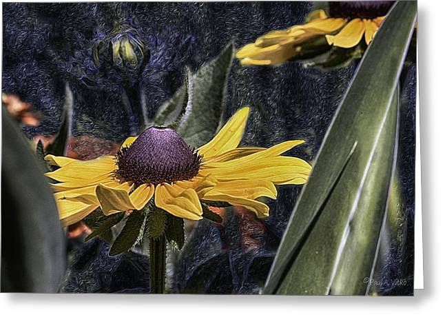 Thinking Of Vincent Van Gogh Greeting Card