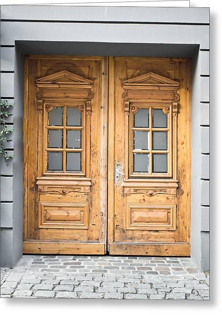 Wooden Door Greeting Card