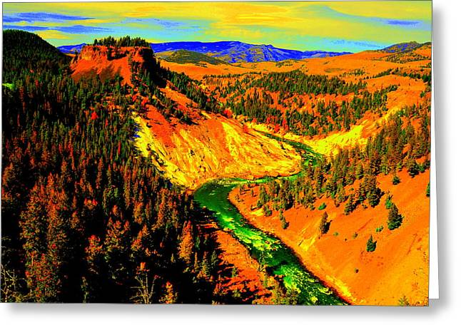 Yellowstone Park Greeting Card by Aron Chervin