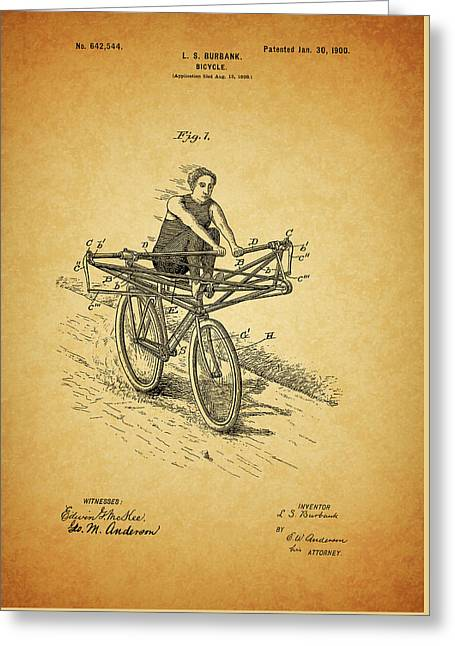 1900 Bicycle Patent Greeting Card by Dan Sproul