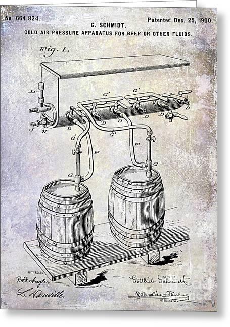 1900 Draft Beer Patent Greeting Card