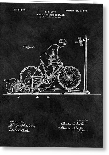1900 Exercise Bike Patent Greeting Card