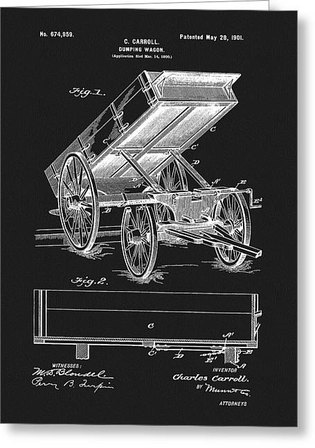 1901 Dumping Wagon Patent Greeting Card