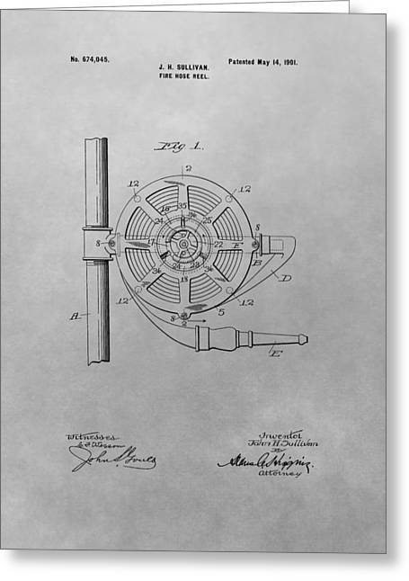 1901 Fire Hose Patent Greeting Card