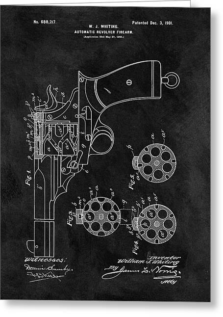 1901 Revolver Patent Greeting Card by Dan Sproul