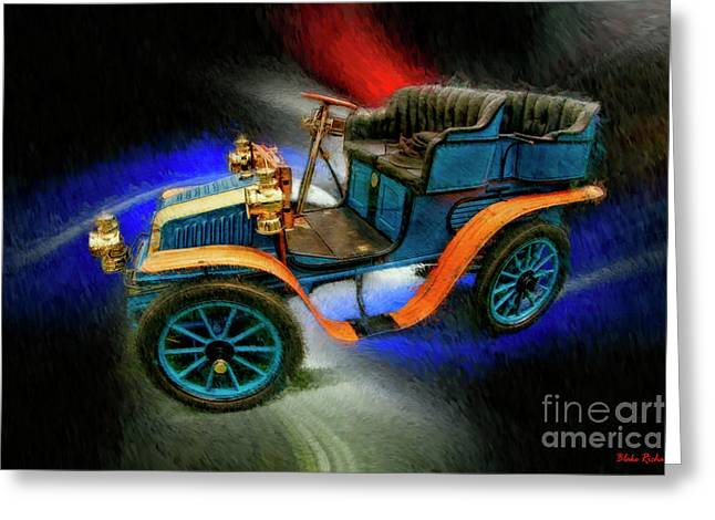 1902 Delahayetype Oa Rear Entry Tonneau Greeting Card by Blake Richards