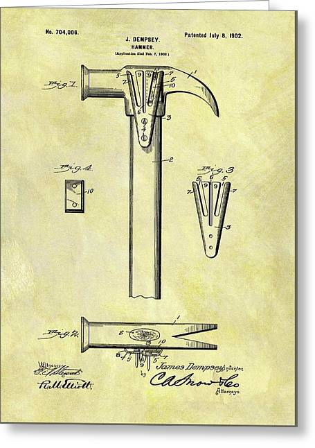 1902 Hammer Patent Greeting Card by Dan Sproul