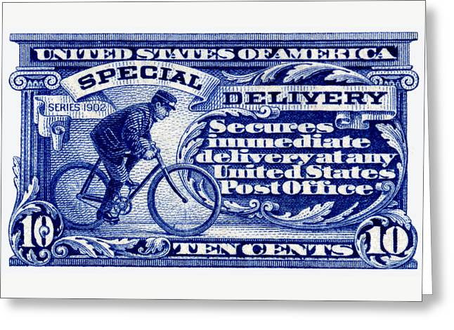 1902 Special Delivery Stamp Greeting Card