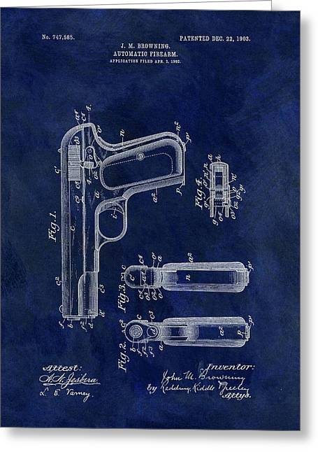 1903 Automatic Firearm Patent Greeting Card