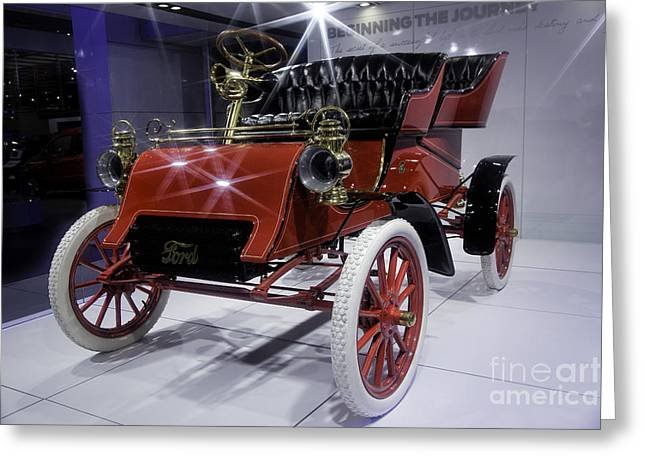 1903 Model A Ford Greeting Card by Timothy Hacker