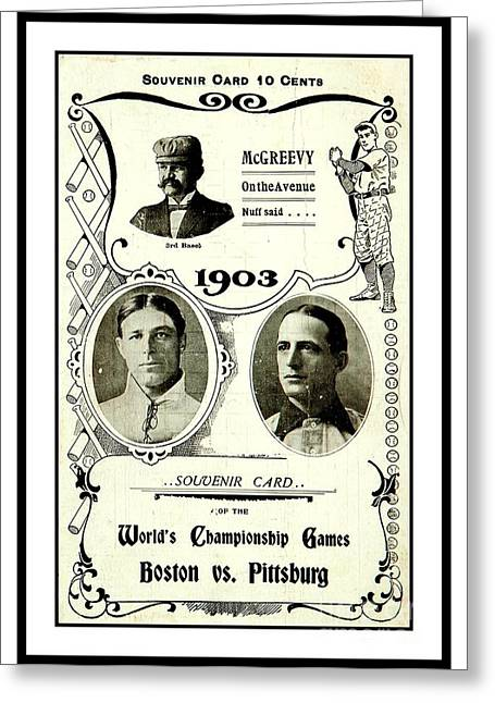 1903 World Series Poster Greeting Card