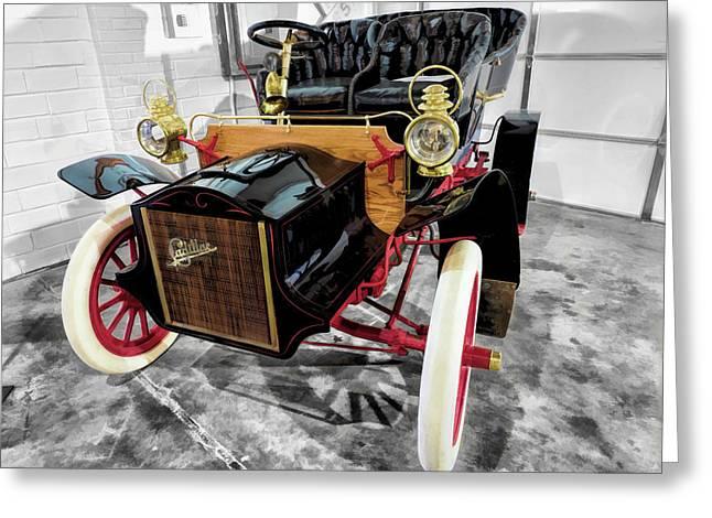 1904 Cadillac Tonneau 10 Hp V2 Greeting Card by John Straton