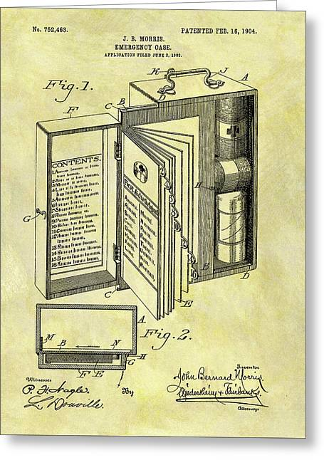 1904 Emergency Case Patent Greeting Card by Dan Sproul
