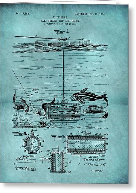 1904 Fishing Bait Patent Greeting Card