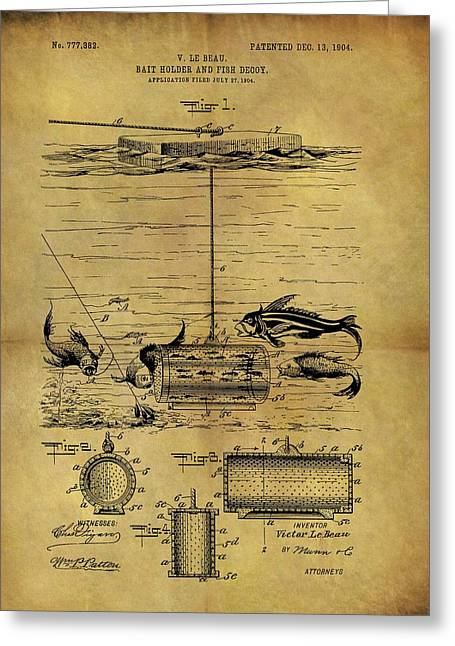 1904 Fishing Decoy Patent Greeting Card