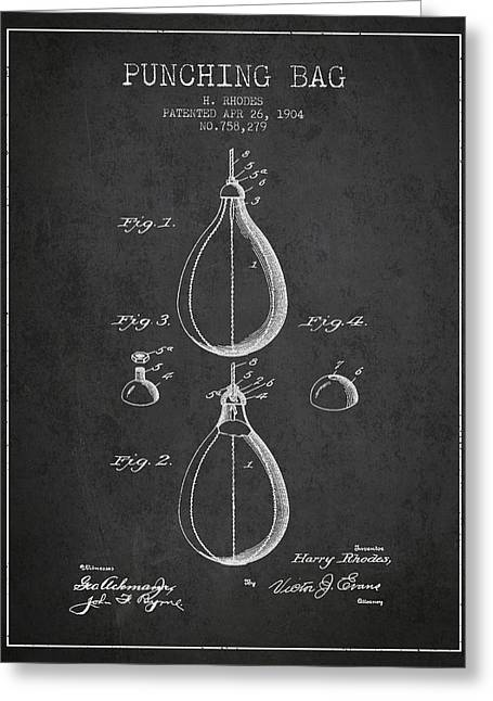 1904 Punching Bag Patent Spbx12_cg Greeting Card