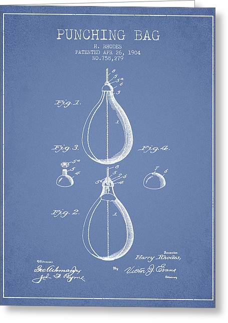 1904 Punching Bag Patent Spbx12_lb Greeting Card