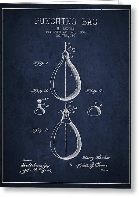 1904 Punching Bag Patent Spbx12_nb Greeting Card by Aged Pixel