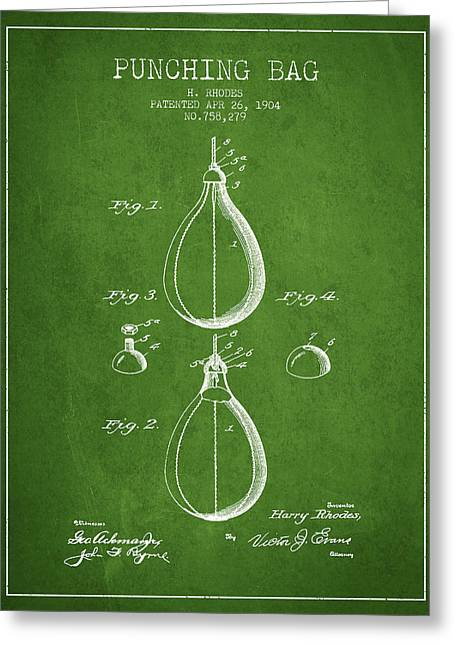 1904 Punching Bag Patent Spbx12_pg Greeting Card