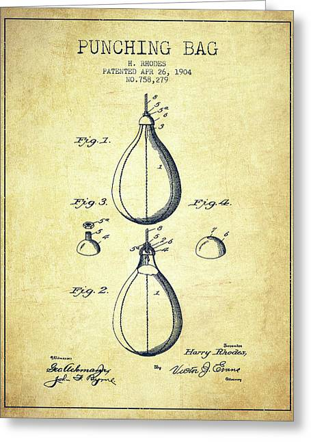 1904 Punching Bag Patent Spbx12_vn Greeting Card