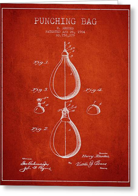 1904 Punching Bag Patent Spbx12_vr Greeting Card