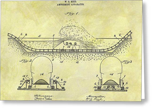 1904 Roller Coaster Patent Greeting Card by Dan Sproul