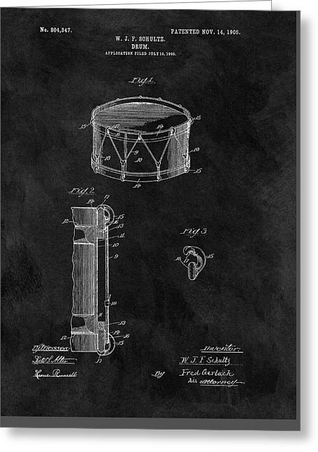 1905 Drum Patent Illustration Greeting Card
