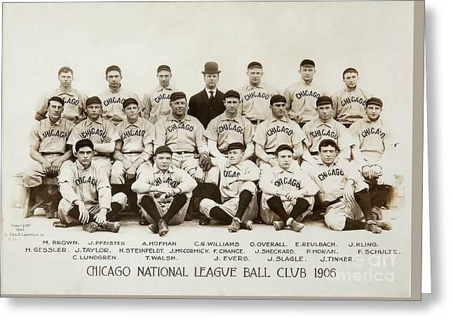 1906 Chicago Cubs Greeting Card