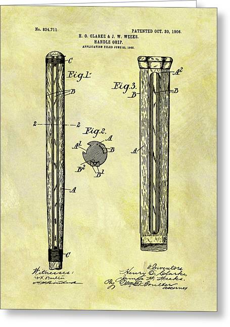 1906 Cricket Bat Patent Greeting Card