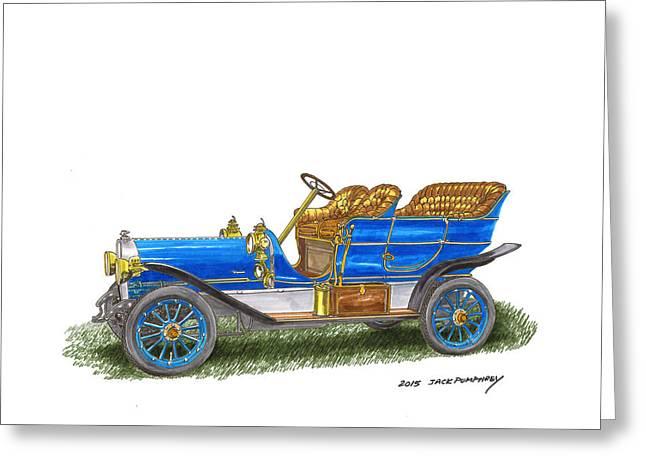 1906 Lambert Touring Model H Greeting Card