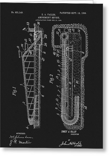 1906 Roller Coaster Patent Greeting Card by Dan Sproul