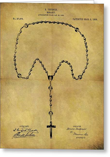 1906 Rosary Patent Greeting Card by Dan Sproul