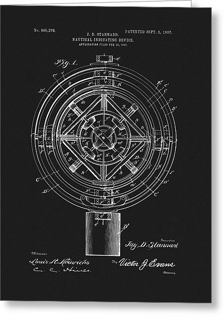 1907 Nautical Indicating Device Greeting Card