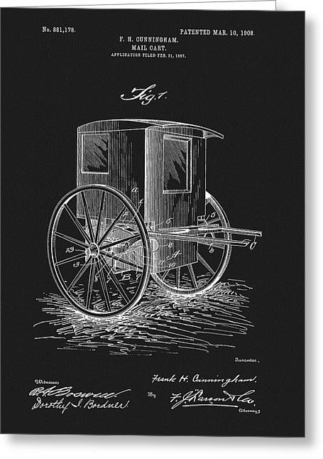 1908 Mail Cart Patent Greeting Card
