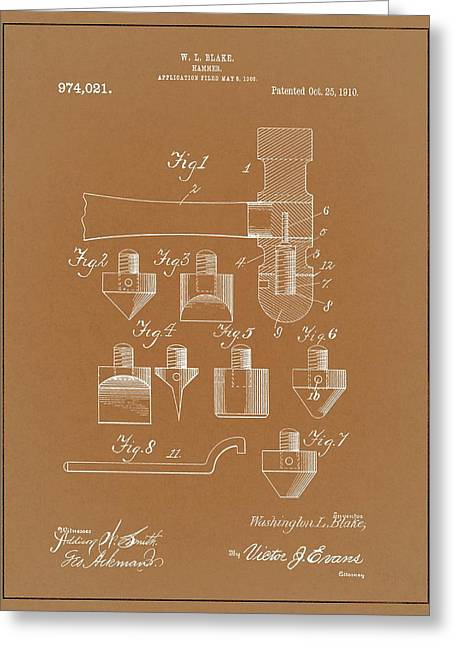 1910 Hammer Patent Greeting Card by Dan Sproul