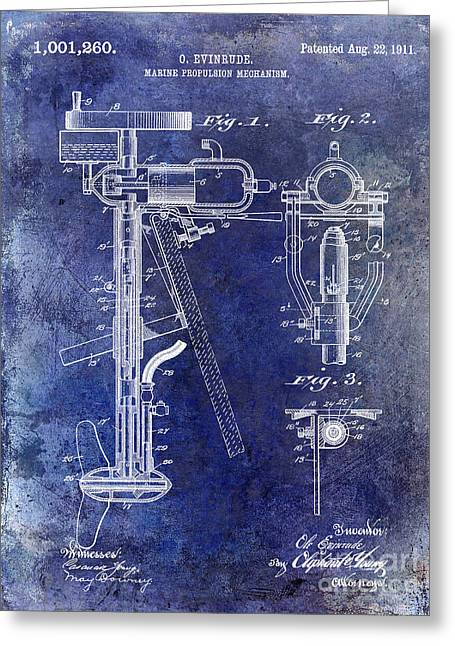 1911 Outboard Boat Motor Patent Greeting Card