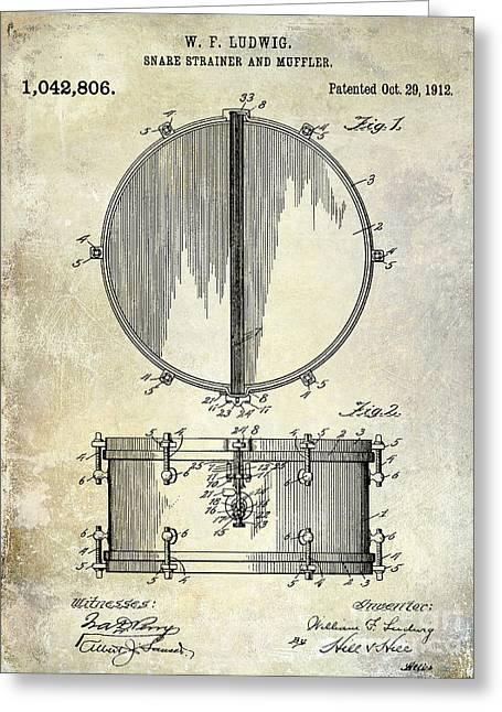1912 Ludwig Drum Patent  Greeting Card