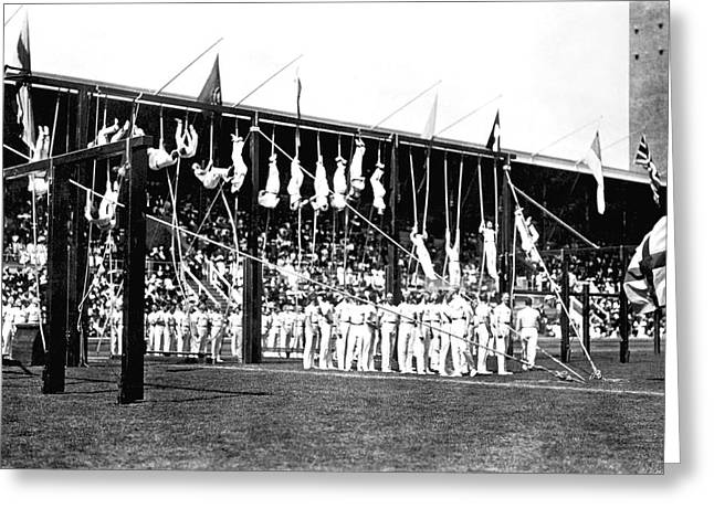 1912 Olympics Greeting Card by Underwood Archives