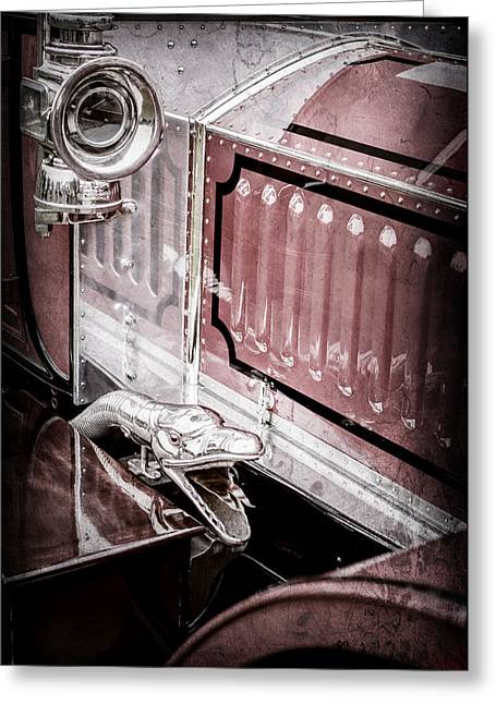 1912 Rolls-royce Silver Ghost Rothchild Et Fils Style Limousine Snake Horn -0711ac Greeting Card by Jill Reger