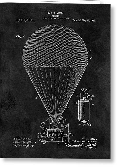 1913 Airship Patent Greeting Card by Dan Sproul