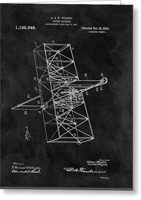 1914 Wright Brothers Airplane Greeting Card