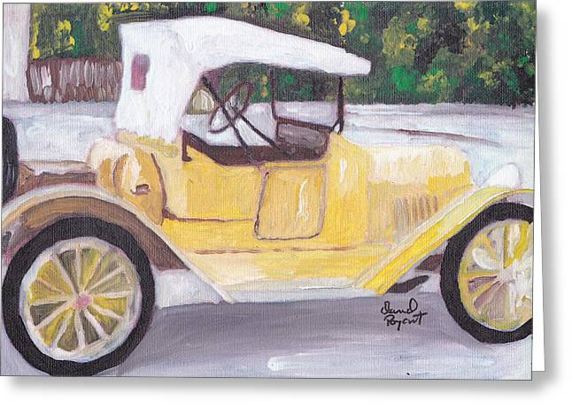 1915 Chevy Greeting Card by David Poyant Paintings