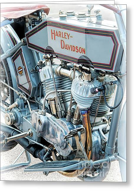 1915 Harley Davidson 11f Greeting Card by Tim Gainey