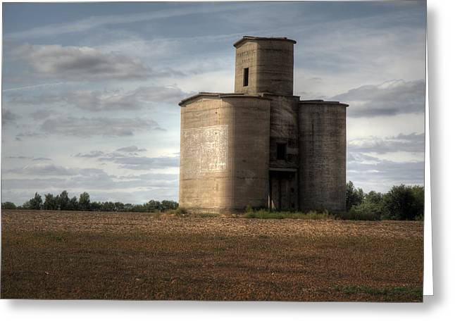 Milo Greeting Cards - 1915 Silo Greeting Card by Fred Lassmann