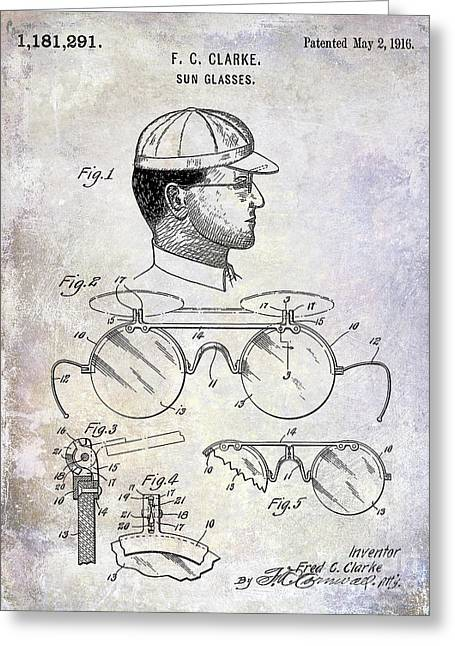 1916 Sunglasses Patent Greeting Card