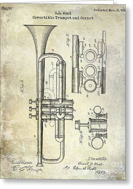 1916 Trumpet Patent Greeting Card