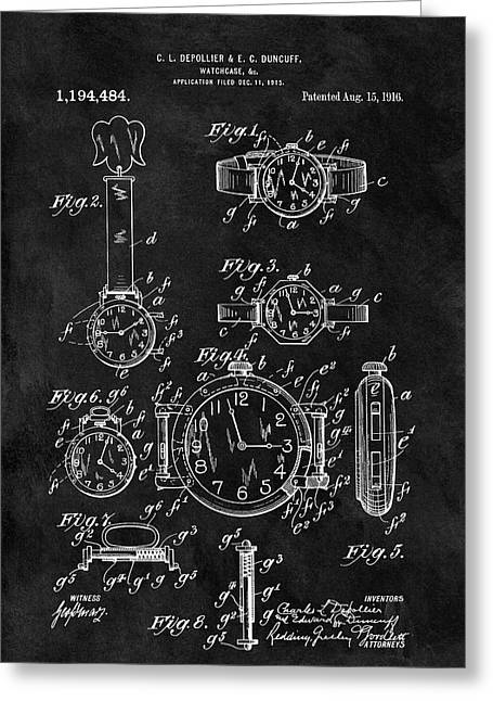 1916 Watch Design Greeting Card by Dan Sproul