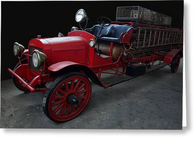1917-1921 Brockway Ladder Truck Greeting Card by Chris Flees